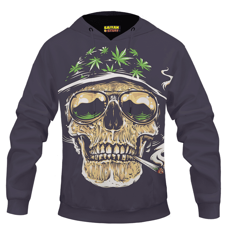 Smoking Joint Skull Marijuana Weed Amazing Dope Hoodie