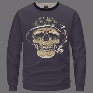 Smoking Joint Skull Marijuana Weed Amazing Dope Sweater