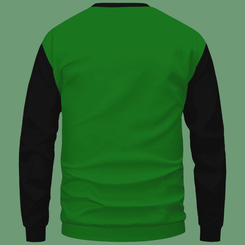 Stoner Mike Monsters Inc Dope Green Black Sweater - Back Mockup