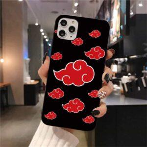 Team Akatsuki Red Cloud Symbol Pattern iPhone 12 Case