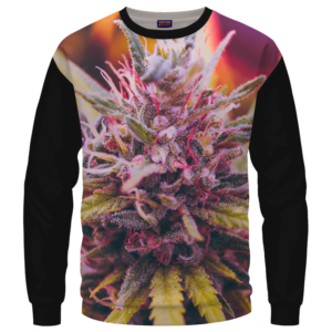Top Shelf Marijuana Weed 420 Black Crewneck Sweater
