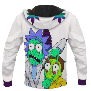 Weed Adventures of Rick and Morty Melting Trippy 420 Marijuana Hoodie