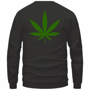 Weed THC Healthcare Dope Vector Marijuana Black Crewneck Sweater Back