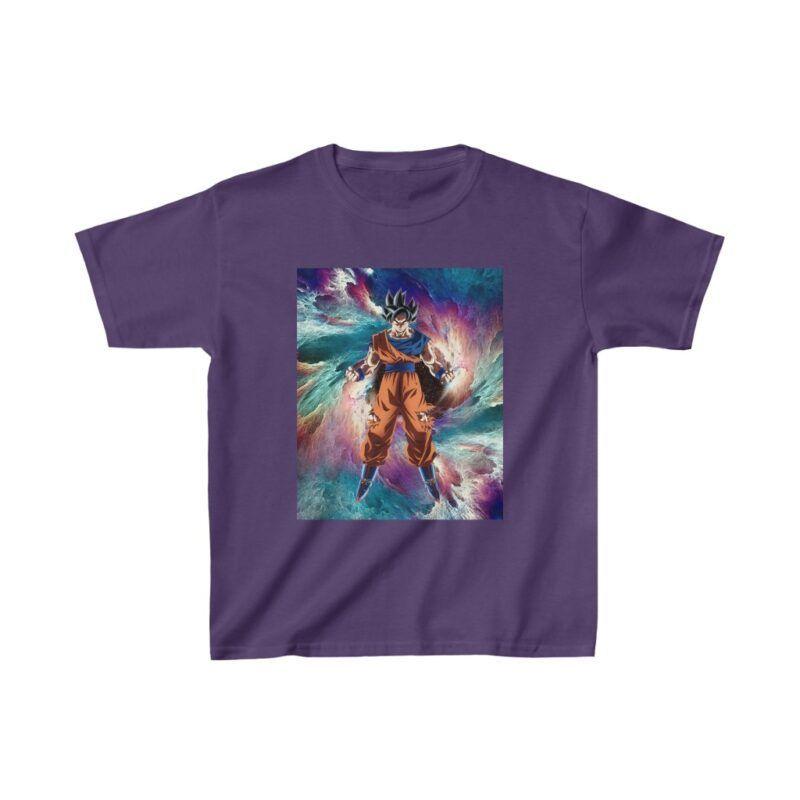 Dragon Ball Z Son Goku Ultra Instinct Colorful Kids T-shirt