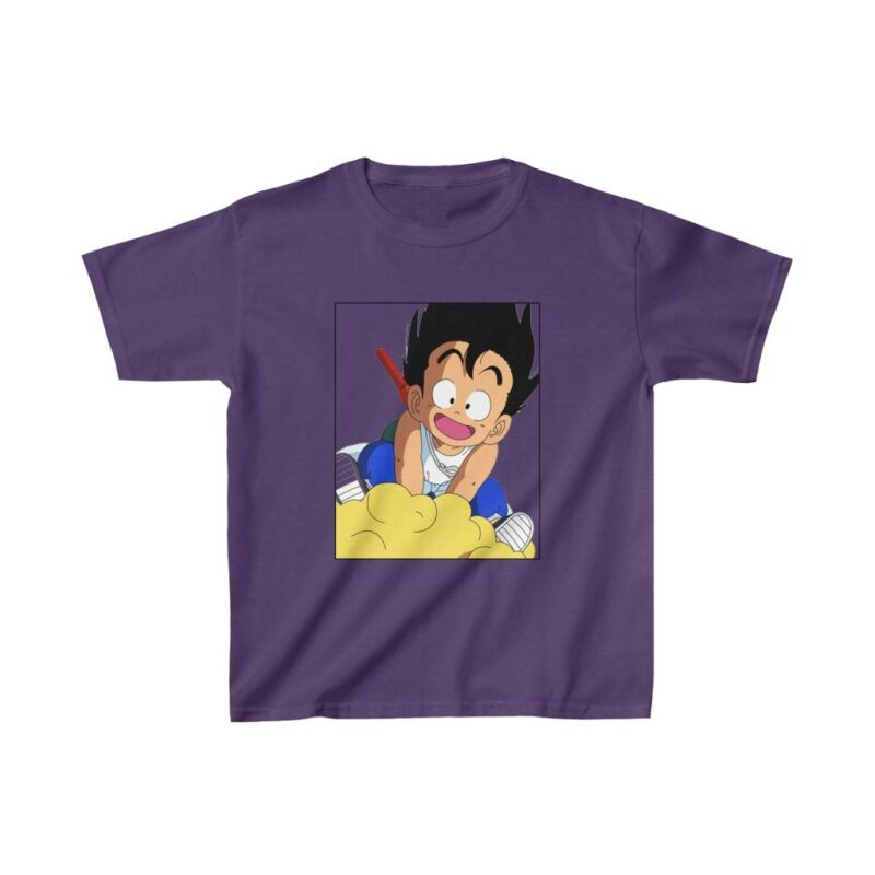 Dragon Ball Z Kid Goku With Nimbus Flying Kids T-shirt