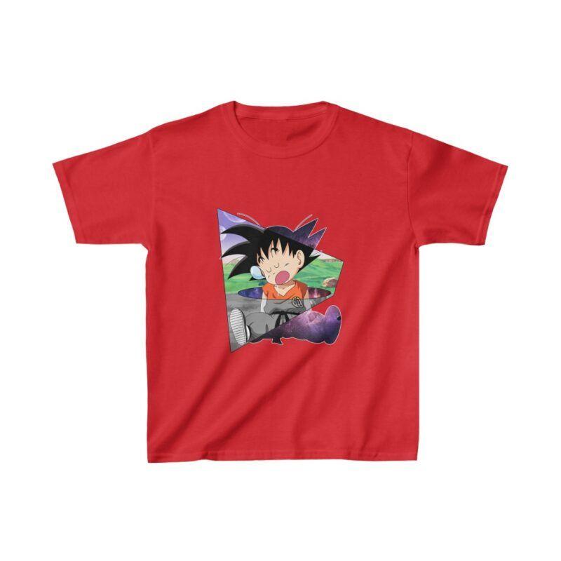 Dragon Ball Z Funny Cute Kid Goku Sleeping Kids T-shirt