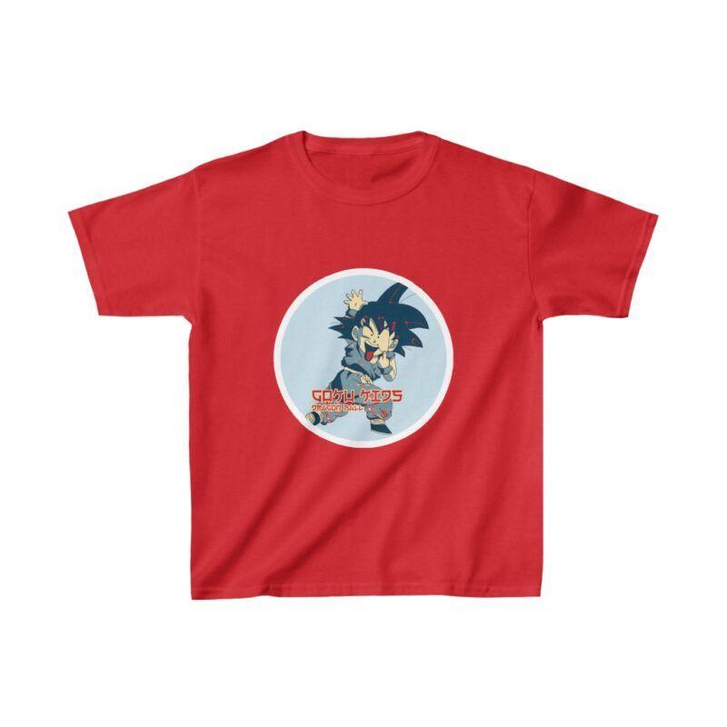 Dragon Ball Z Adorable Cute Goku Naughty Face Kids T-shirt