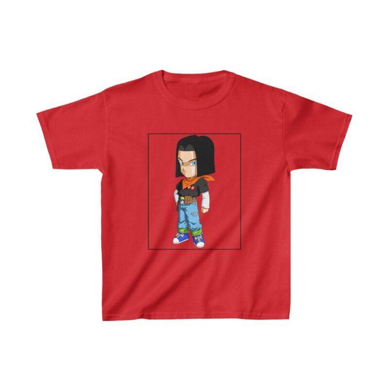 Dragon Ball Z Adorable Cute Chibi Android 17 Kids T-shirt