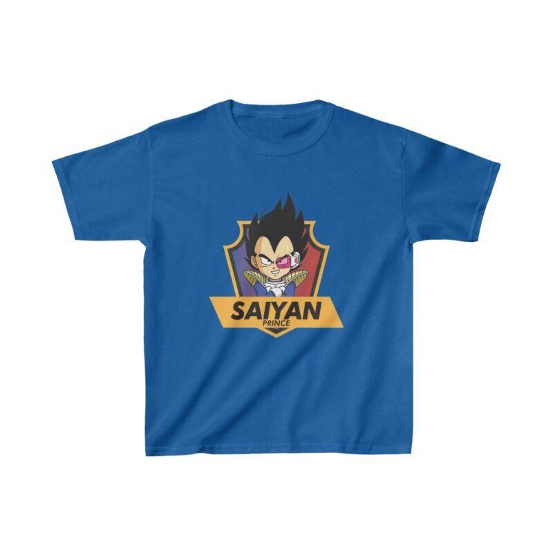 Dragon Ball Z Saiyan Prince Vegeta Cute Badge Kids T-shirt