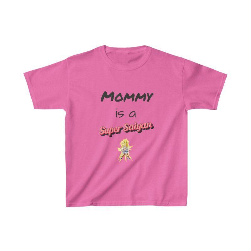 Dragon Ball Z Mommy Is A Super Saiyan Cute Kids T-shirt