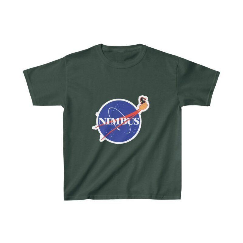 Dragon Ball Z Kid Goku Flying Nimbus NASA Parody Kids T-shirt