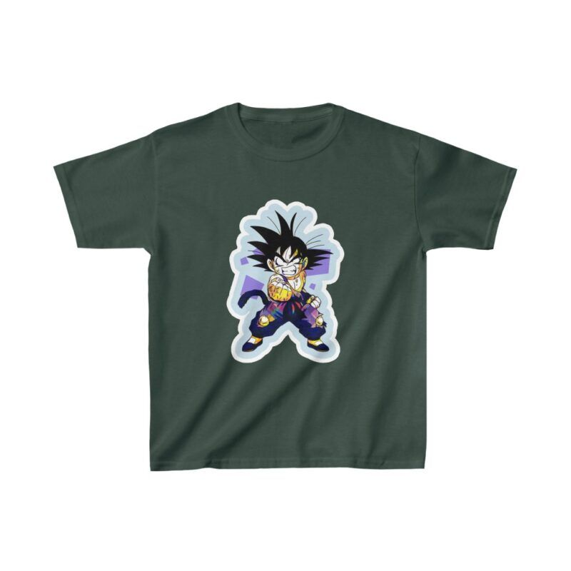 Dragon Ball Z Cute Kid Goku Angry Face Kids T-shirt