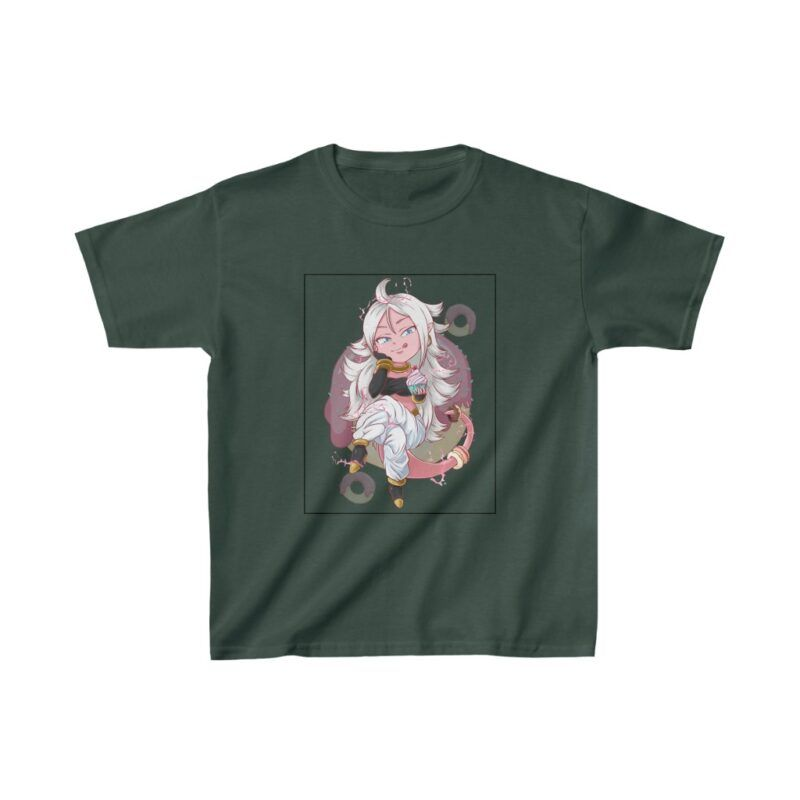 Dragon Ball Z Cute Chibi Android 21 Pink Kids T-shirt