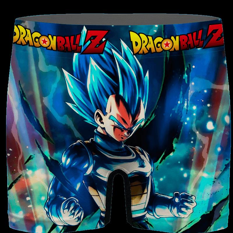 DBZ Amazing Vegeta Blue Posing Aura Men's Underwear