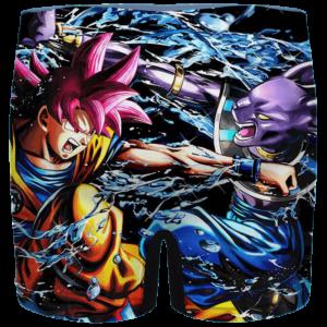 Dragon Ball Z Beerus Vs Goku Red Dope Art Men's Brief
