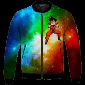 DBZ Goku Spirit Bomb Ganja Weed Colorful Bomber Jacket