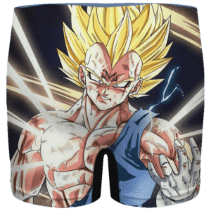 DBZ Majin Vegeta Injured Manga Style Men's Boxer Brief