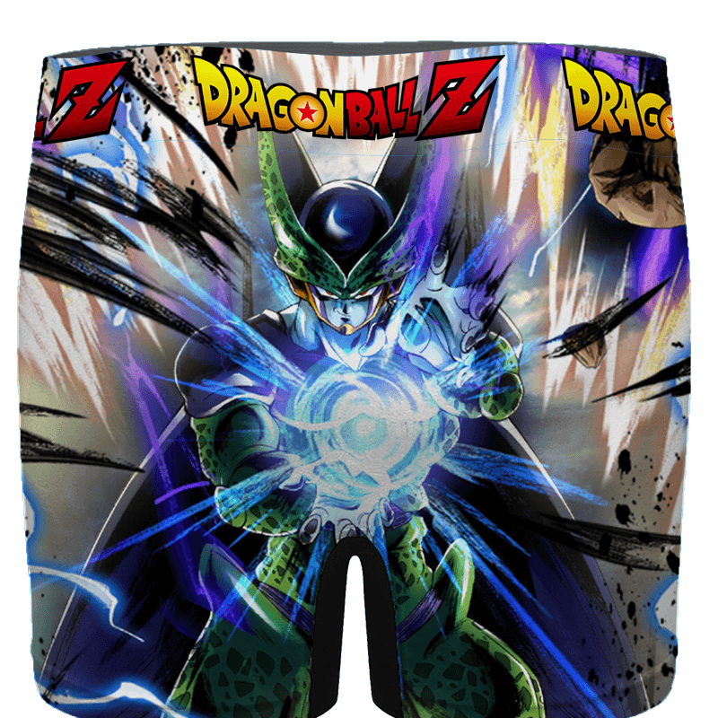 DBZ Perfect Cell Charging Up Awesome Art Men's Brief - back