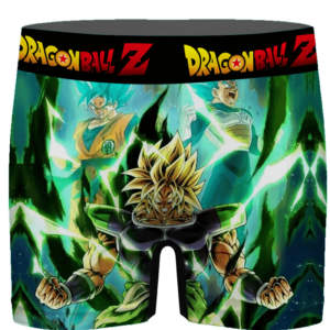 DBZ SSJ Broly Goku Vegeta Fan Favorite Art Green Men's Underwear