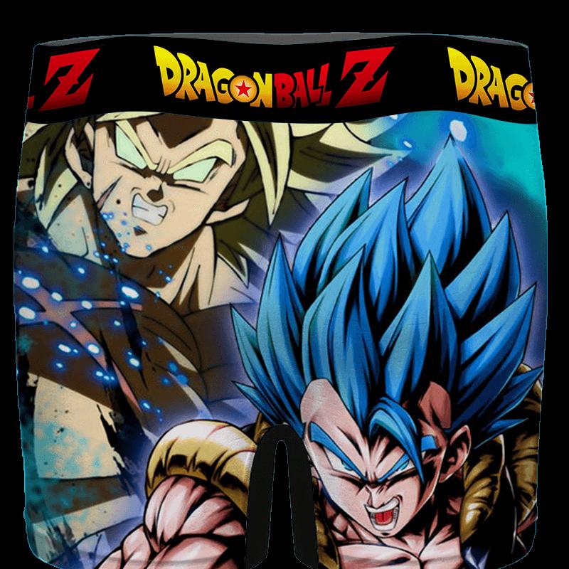 DBZ Super Saiyan Gogeta Blue Broly Dope Art Men's Boxer Brief - back