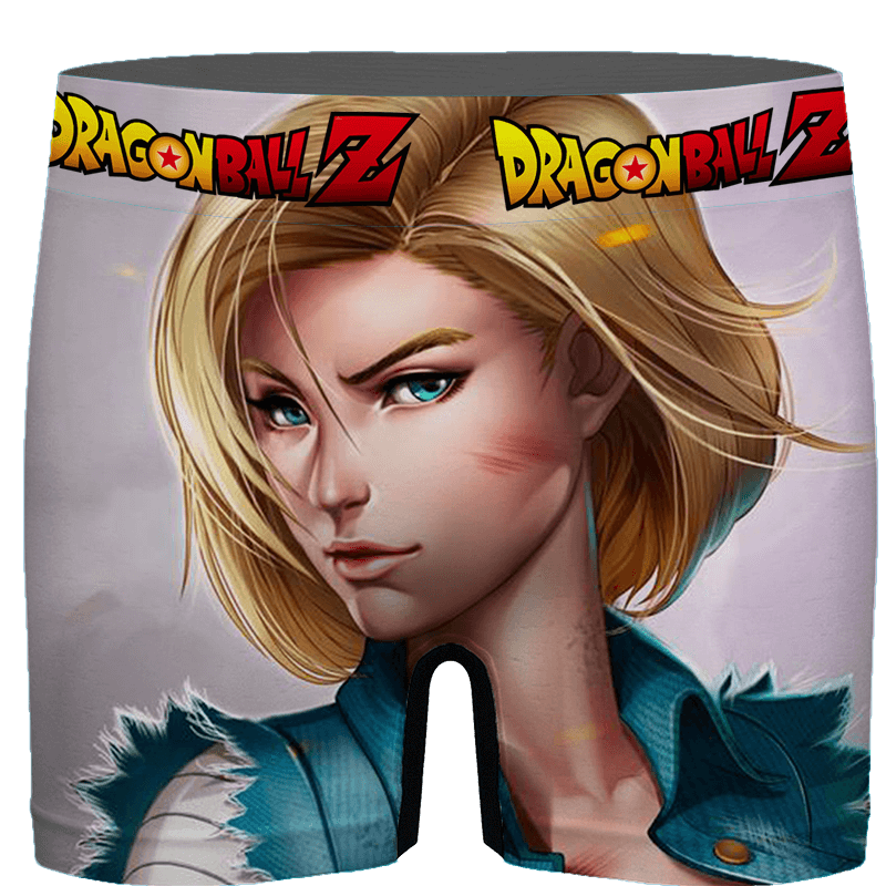 Dragon Ball Beautiful Android 18 Sexy Art Men's Boxer