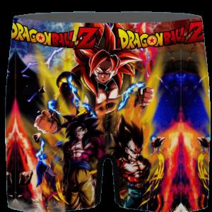 Dragon Ball GT SSJ4 Goku Vegeta Xeno Gogeta Men's Boxer