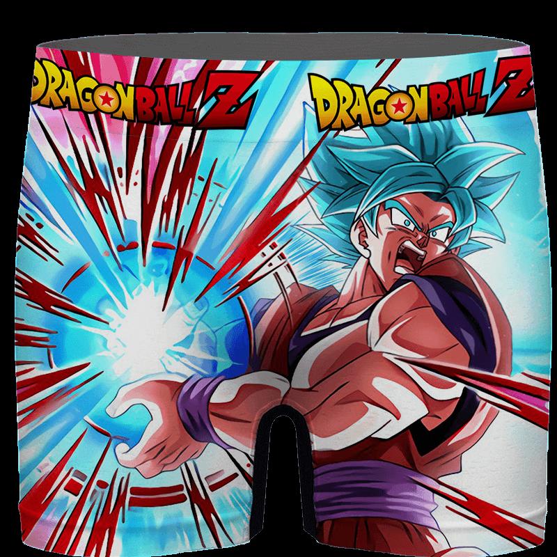 Dragon Ball Goku Blue Kamehameha Awesome Men's Boxer