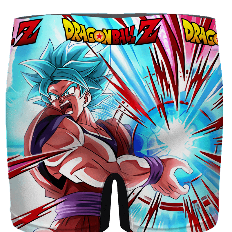 Dragon Ball Goku Blue Kamehameha Awesome Men's Boxer - back