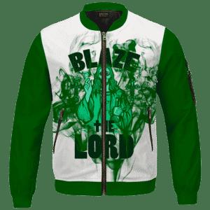 Jesus Smokes Blaze The Lord Funny Art 420 Marijuana Bomber Jacket