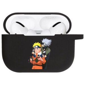 Kakashi & Naruto Reading A Scroll Black Airpods Pro Case