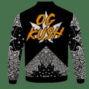 Legendary OG Kush Sativa Strain 420 Marijuana Bomber Jacket - back