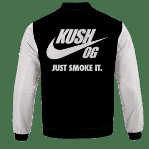 OG Kush Just Smoke It Nike Inspired Dope Bomber Jacket - BACK
