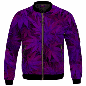 Purple Haze Trippy Marijuana Hemp 420 Bomber Jacket
