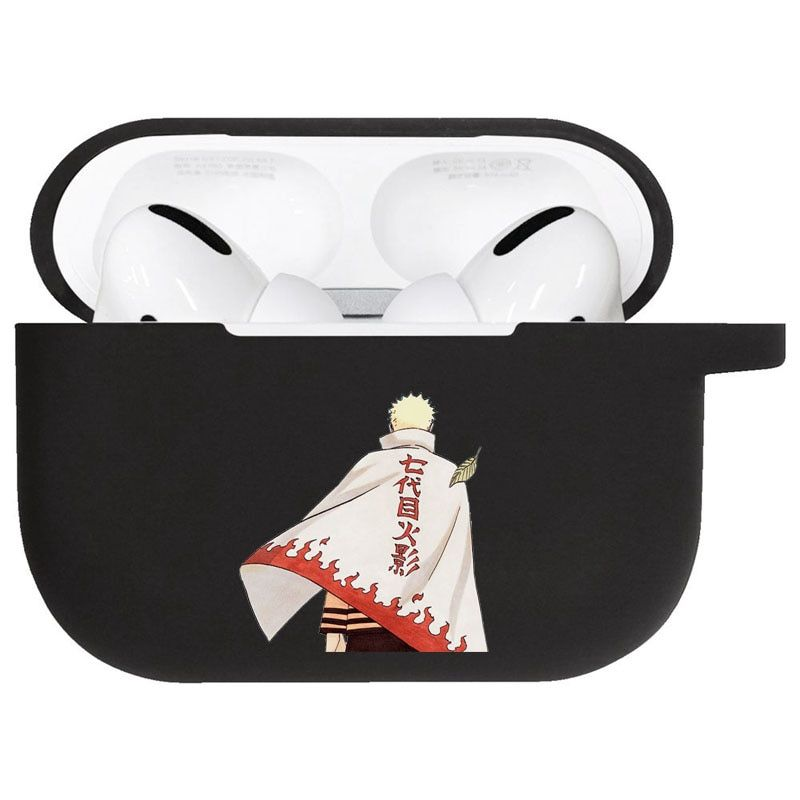 The Great Hokage Naruto Uzumaki Black Airpods Pro Case