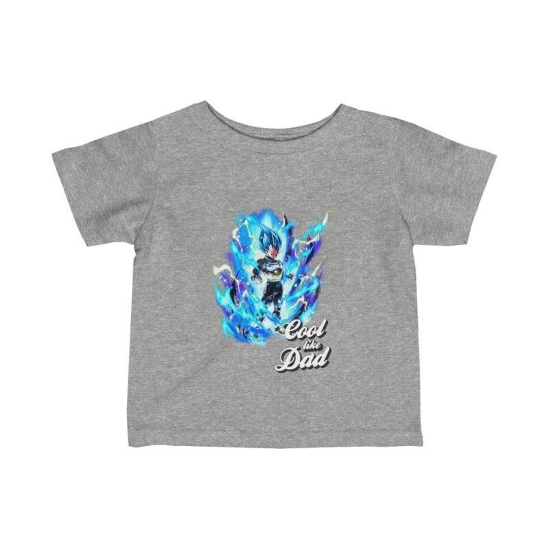 Dragon Ball Z Vegeta SSGSS Cool Like Dad Baby T-shirt