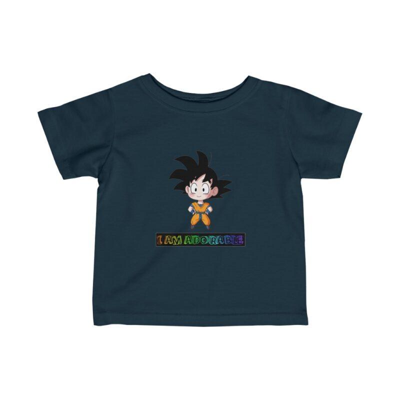 DBZ Cute Chibi Goku I Am Adorable Sweet Infant T-shirt