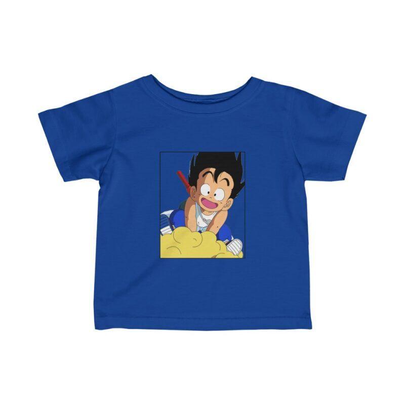 DBZ Kid Goku With Nimbus Flying Amazing Infant T-shirt