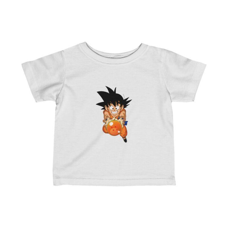 DBZ Kid Goku With Dragon Ball 4 Star Kids Wonderful Baby T-shirt