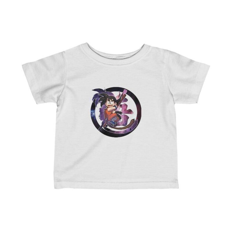 Dragon Ball Z Kid Goku Goofy Style Art Galaxy Infant T-shirt