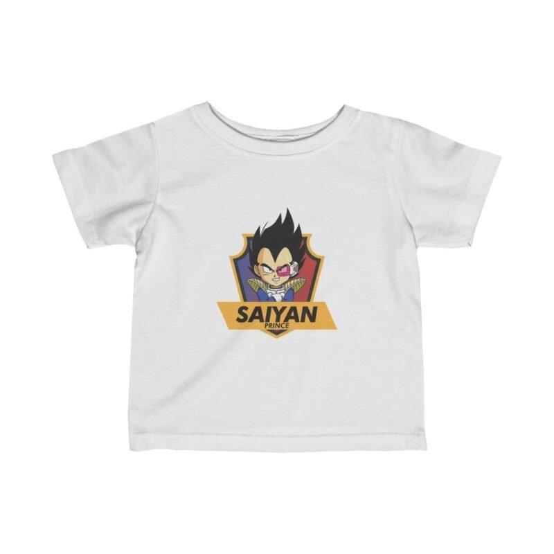 DBZ Saiyan Prince Vegeta Cute Badge Amazing Baby T-shirt