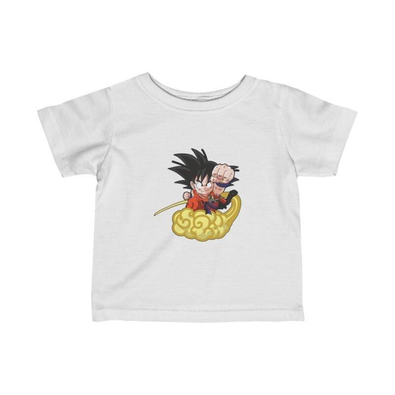 Dragon Ball Kid Goku Flying Nimbus Cool And Dope Baby T-shirt