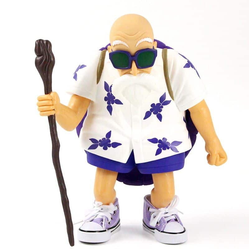 Master Roshi Purple Floral Shirt Turtle Shell Action Figure