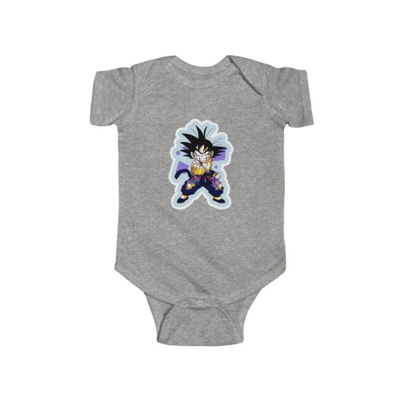 Dragon Ball Z Cute Kid Goku Angry Face Baby Suit Onesie 24M