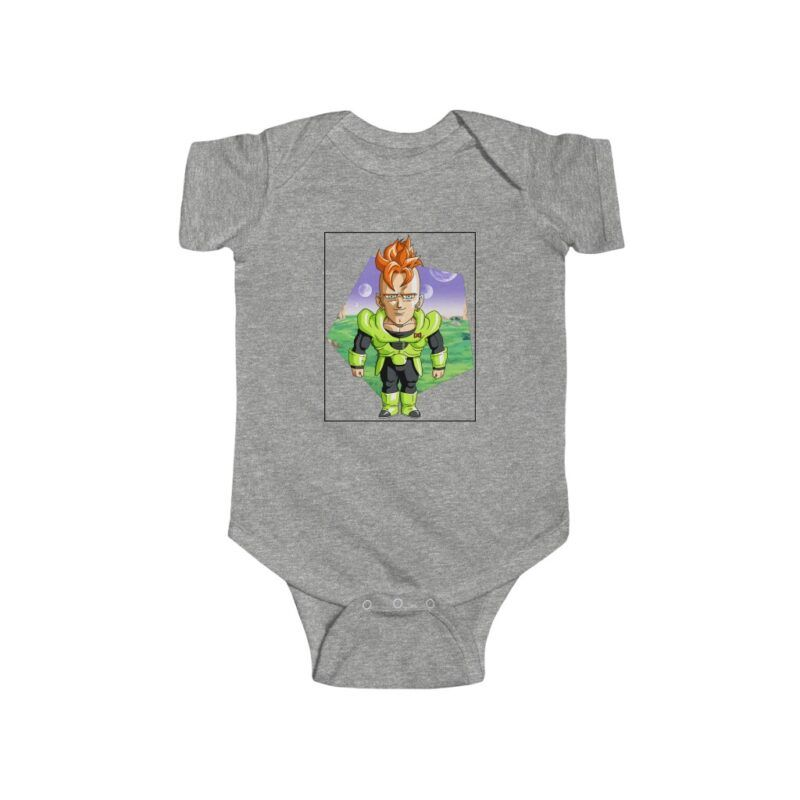 Dragon Ball Z Cute Chibi Android 16 Baby Suit Onesie 24M