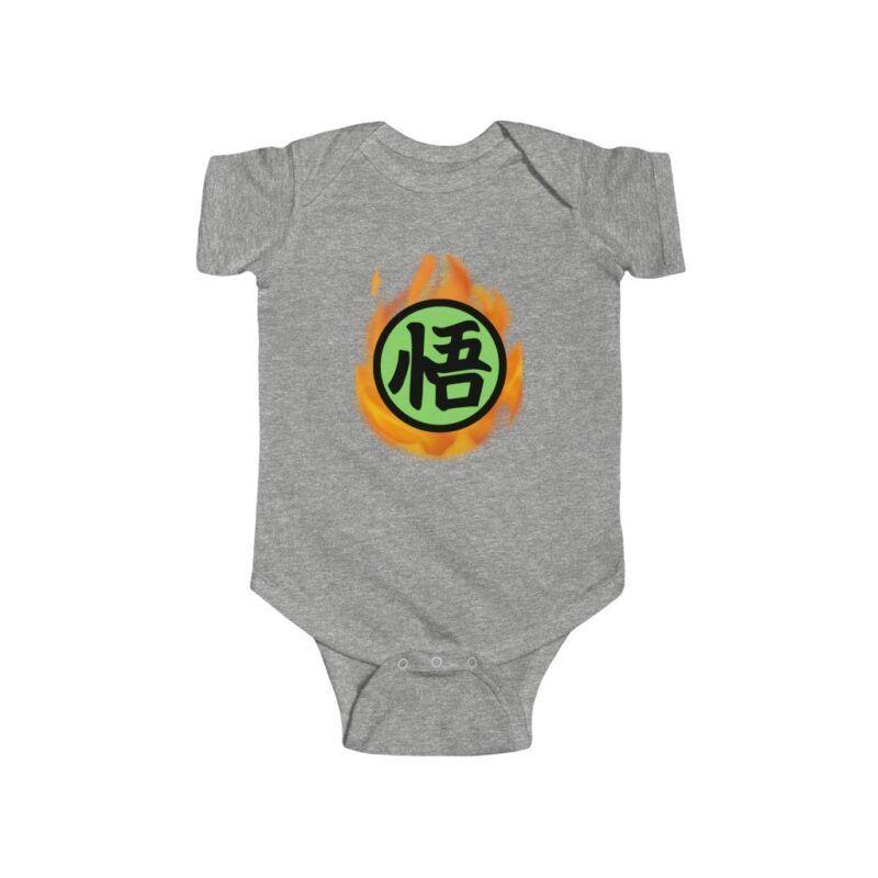Dragon Ball Z Fiery Goku Kanji Symbol Toddler Bodysuit