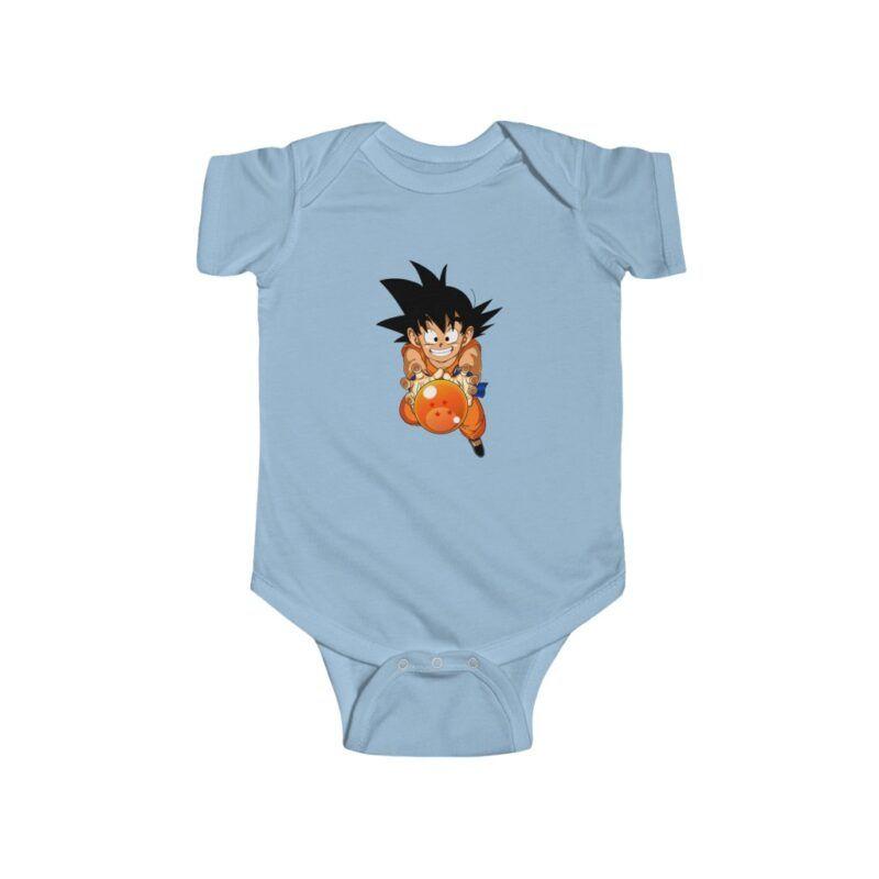 DBZ Kid Goku With Dragon Ball 4 Star Onesie 24M