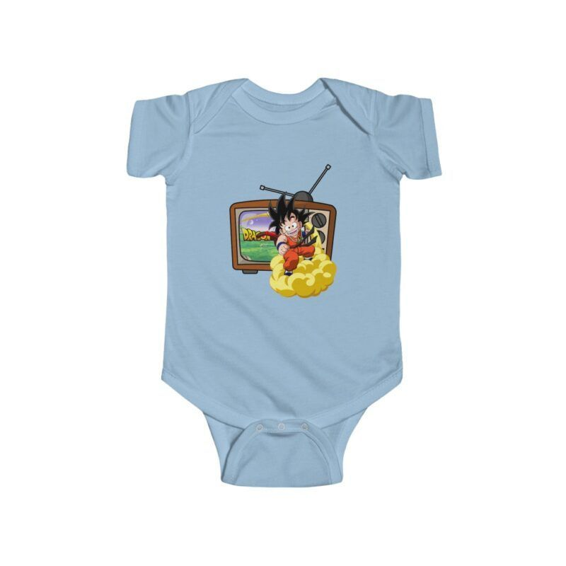 Dragon Ball Z Cute Kid Goku Going Out Of TV Baby Onesie 24M