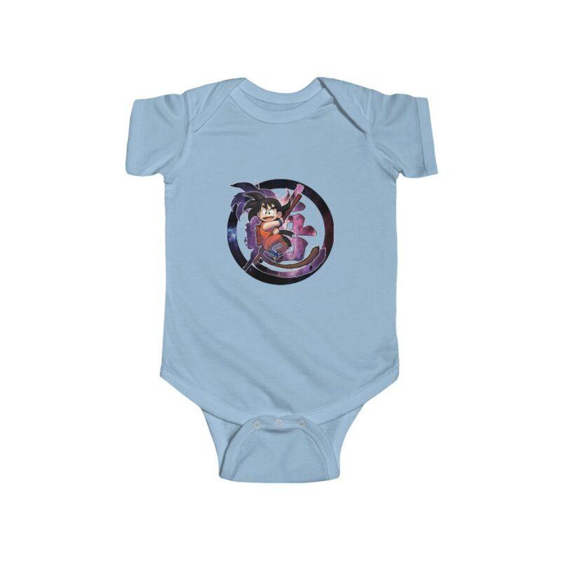 Dragon Ball Z Cute Kid Goku Galaxy Baby Suit Onesie 24M