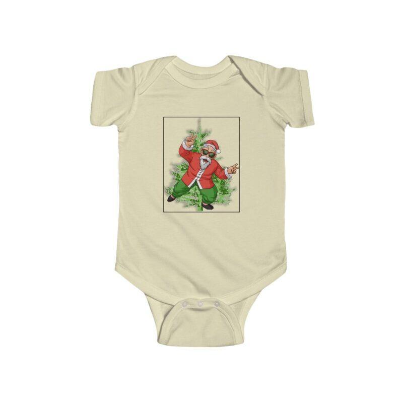 Dragon Ball Z Cute Santa Master Roshi Baby Suit Onesie 24M