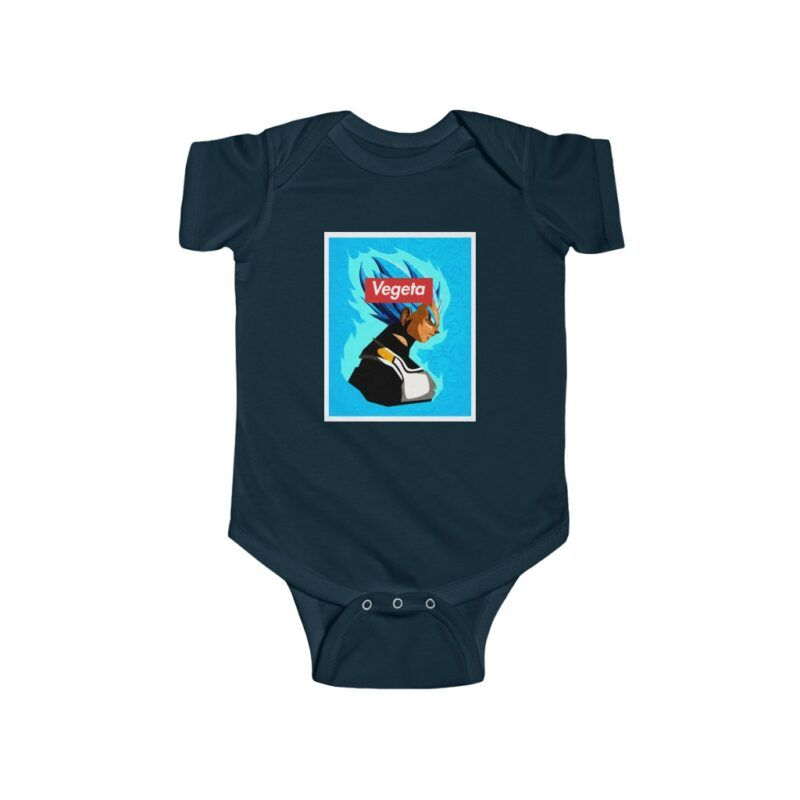 Dragon Ball Super Saiyan Blue Vegeta Vector Cool Baby Onesie